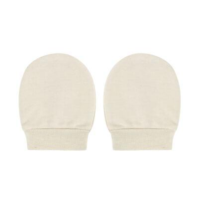 Imagem 3 do produto Kit Touca e Luva para bebe em suedine Bege - Tilly Baby - TB13114.02 GORRO E LUVA EM SUEDINE BEGE-P
