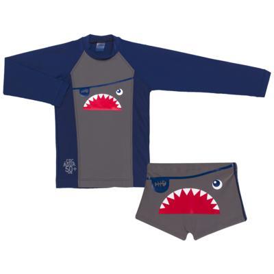Imagem 1 do produto Conjunto de Banho Tuba: Camiseta surfista + Sunga - Cara de Criança - KIT 2 2571: SB2571+CSAL2571-2