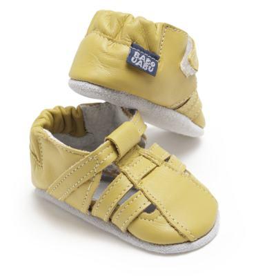 Imagem 1 do produto Sandália para bebe c/ velcro em couro Eco Amarelo - Babo Uabu - BABO39 Sandalia Tiras Amarela-12-18 meses