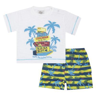 Imagem 1 do produto Camiseta c/ Bermuda em malha Maverick - Tilly Baby - TB166303 CONJ MASC TACTEL COQUEIROS-3