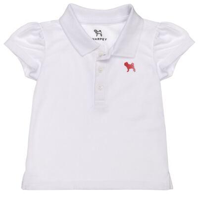 Imagem 1 do produto Polo feminina em piquet Branca - Charpey - CY22295.101 POLO FEM PIQUE MC BRANCO-G
