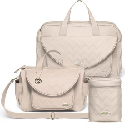 Imagem 1 do produto Mala Maternidade para bebe + Bolsa Gênova + Frasqueira Térmica Firenze Chevron Ágata - Classic for Baby Bags