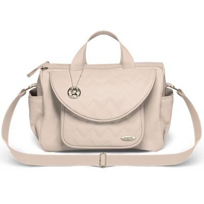 Imagem 3 do produto Mala Maternidade para bebe + Bolsa Gênova + Frasqueira Térmica Firenze Chevron Ágata - Classic for Baby Bags