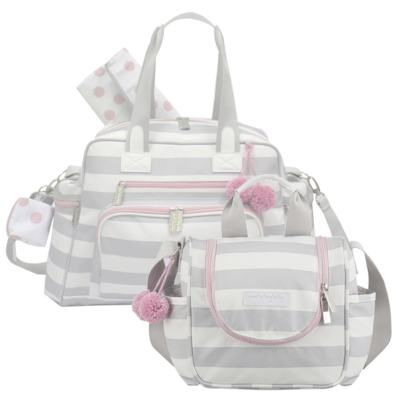 Imagem 1 do produto Bolsa para bebe Everyday + Frasqueira Térmica Emy Candy Colors Pink - Masterbag