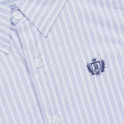 Imagem 2 do produto Camisa para bebe em tricoline Stripes - Bibe - 38N02-G70 CAMISA MASC ML -1