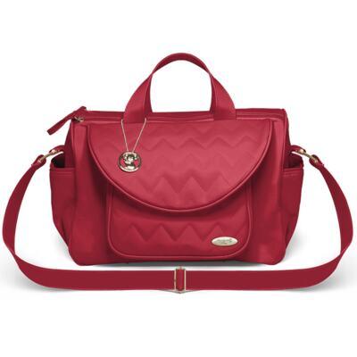 Imagem 2 do produto Bolsa maternidade para bebe Gênova + Frasqueira Térmica Firenze Chevron Rubi - Classic for Baby Bags
