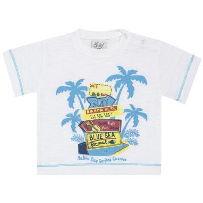 Imagem 2 do produto Camiseta c/ Bermuda em malha Maverick - Tilly Baby - TB166303 CONJ MASC TACTEL COQUEIROS-1