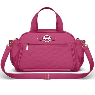 Imagem 4 do produto Mala Maternidade para bebe + Bolsa Liverpool + Frasqueira Térmica Melrose Laços Matelassê Pink - Classic for Baby Bags
