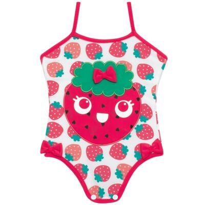 Imagem 2 do produto Conjunto de banho Strawberry: Maiô + Chapéu - Cara de Criança - KIT1-1253: MB1253 MAIO + CH1253 CHAPEU MORANGUINHO-M