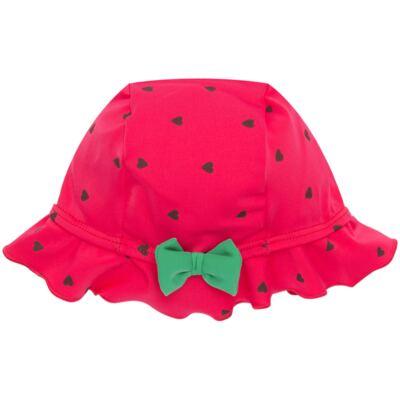 Imagem 4 do produto Conjunto de banho Strawberry: Maiô + Chapéu - Cara de Criança - KIT1-1253: MB1253 MAIO + CH1253 CHAPEU MORANGUINHO-M