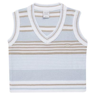 Imagem 1 do produto Colete para bebe em tricot Stripes  - Mini & Classic - 4508656 PULOVER LISTRADO TRICO URSO-P
