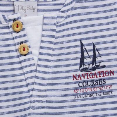 Imagem 3 do produto Camiseta com Shorts em malha Navigation Course  - Tilly Baby