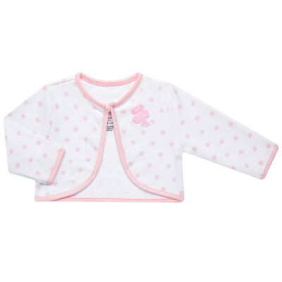 Imagem 4 do produto Conjunto Pagão Princess: Casaco + Body curto + Calça para bebe em algodão egípcio - Bibe - 39F18-G79 CONJ PAGAO POÁ-P