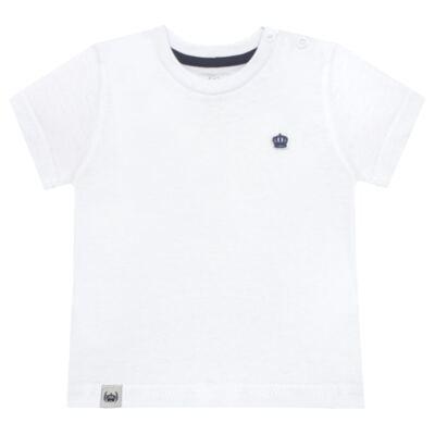 Imagem 1 do produto Camiseta em malha Branca  - Baby Classic - 673998 CAMISETA MC MALHA BRANCO-3