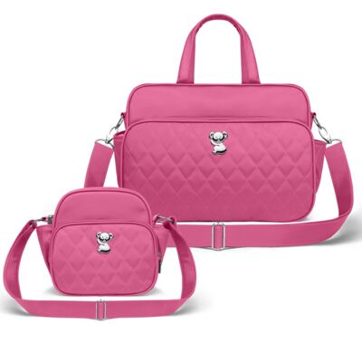Imagem 1 do produto Kit Bolsa maternidade para bebe Montserrat + Frasqueira Térmica Guadalupe Colors Pink - Classic for Baby Bags