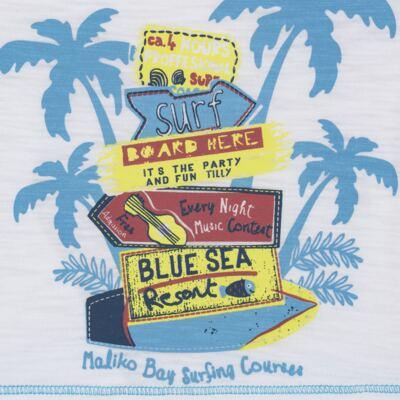 Imagem 3 do produto Camiseta c/ Bermuda em malha Maverick - Tilly Baby - TB166303 CONJ MASC TACTEL COQUEIROS-GG