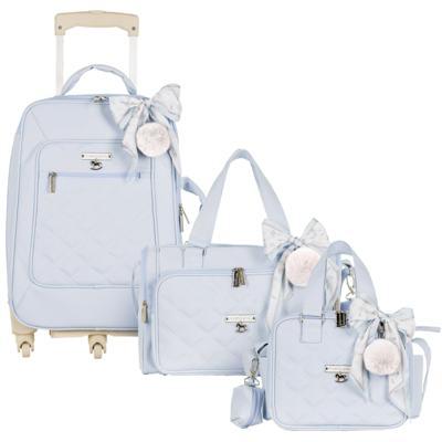 Imagem 1 do produto Mala maternidade com Rodízio + Bolsa Anne + Bolsa térmica organizadora Soldadinho Azul - Masterbag