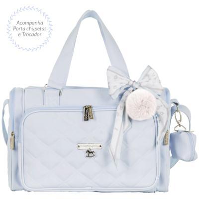 Imagem 3 do produto Mala maternidade com Rodízio + Bolsa Anne + Bolsa térmica organizadora Soldadinho Azul - Masterbag