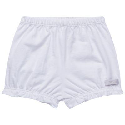 Imagem 1 do produto Shorts balonê para bebe em malha Branco - Tilly Babys - TB13105.01 SHORT BALONE MEIA MALHA BRANCO-M
