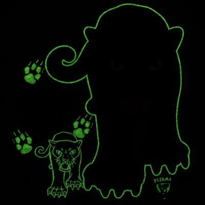 Imagem 5 do produto Pijama longo que Brilha no Escuro Panther - Cara de Criança - L2289 PANTERA L PJ LONGO M/MALHA -1