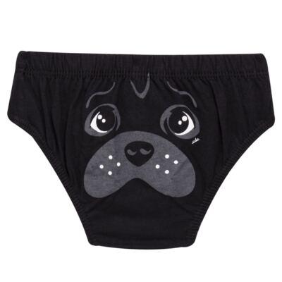Imagem 2 do produto Kit com 3 Cuecas para bebe em malha Dogs - Cara de Criança - KK2342 Pug Masc. KK3 Kit Cueca 3pçs M/Malha -P