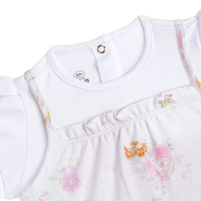 Imagem 2 do produto Macacão curto para bebe em algodão egípcio Claridge - Bibe - 39C06-G75 MAC FEM MC ESTA BULE-P