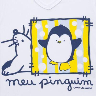 Imagem 3 do produto Pijama curto em malha Pinguinzinho - Cara de Sono