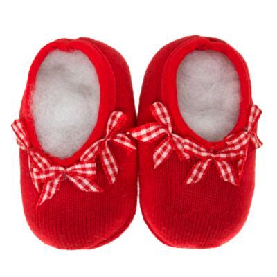 Imagem 2 do produto Sapatinho para bebe em tricot Laço Vermelho - Mini Sailor - 50134263 Sapatinho c/ Laços Tricot Verm. Es