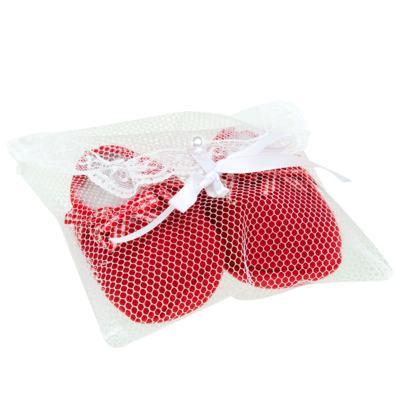 Imagem 3 do produto Sapatinho para bebe em tricot Laço Vermelho - Mini Sailor - 50134263 Sapatinho c/ Laços Tricot Verm. Es