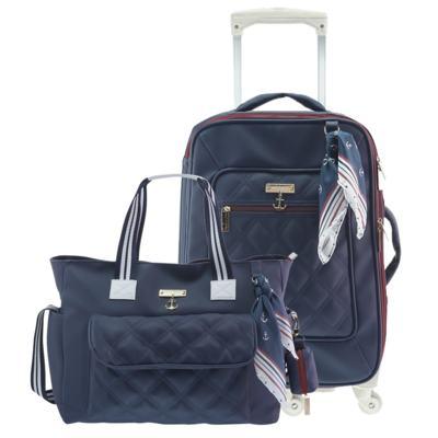 Imagem 1 do produto Mala Maternidade com rodízio + Bolsa Sú Náutica Marinho - Masterbag