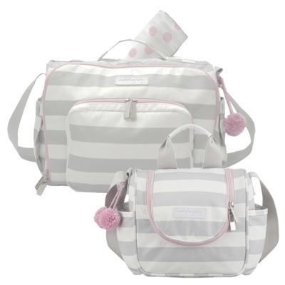 Imagem 1 do produto Bolsa para bebe 2 em 1 Julie + Frasqueira Térmica Emy Candy Colors Pink - Masterbag