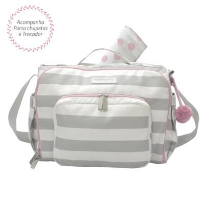 Imagem 2 do produto Bolsa para bebe 2 em 1 Julie + Frasqueira Térmica Emy Candy Colors Pink - Masterbag