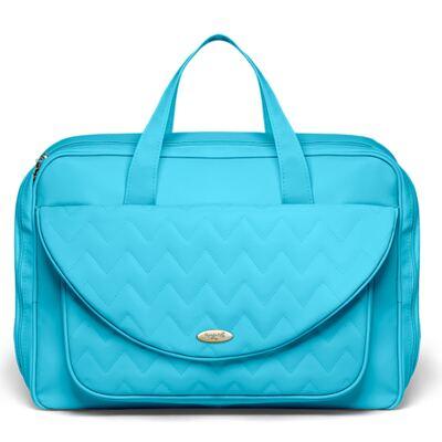 Imagem 2 do produto Mala Maternidade para bebe  + Bolsa Gênova + Frasqueira Térmica Nápoli + Trocador Portátil Chevron Turmalina - Classic for Baby Bags