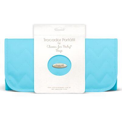 Imagem 6 do produto Mala Maternidade para bebe  + Bolsa Gênova + Frasqueira Térmica Nápoli + Trocador Portátil Chevron Turmalina - Classic for Baby Bags