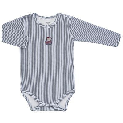 Imagem 1 do produto Body longo para bebe em suedine Baseball League - Vicky Baby - 0312-4256 BODY LONGO BASEBALL 2 -P