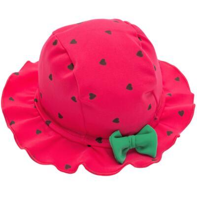 Imagem 5 do produto Conjunto de banho Strawberry: Maiô + Chapéu - Cara de Criança - KIT1-1253: MB1253 MAIO + CH1253 CHAPEU MORANGUINHO-P