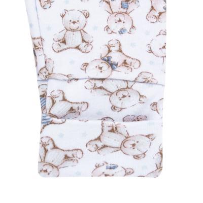 Imagem 3 do produto Pack 2 mijões com pé reversível para bebe em algodão egípcio c/ jato de cerâmica Prince Bear - Mini & Classic - 1025656 PACK 2 MIJOES SUEDINE URSO-P