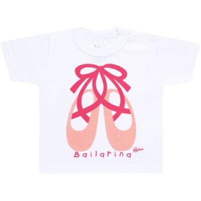 Imagem 2 do produto Conjunto de Banho Ballet: Camiseta + Biquíni + Tiara - Cara de Criança - KIT1-1268: BB1268 BIQUINI + CCAB1268 CAMISETA BAILARINA-P
