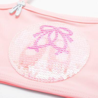 Imagem 5 do produto Conjunto de Banho Ballet: Camiseta + Biquíni + Tiara - Cara de Criança - KIT1-1268: BB1268 BIQUINI + CCAB1268 CAMISETA BAILARINA-P