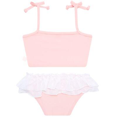Imagem 6 do produto Conjunto de Banho Ballet: Camiseta + Biquíni + Tiara - Cara de Criança - KIT1-1268: BB1268 BIQUINI + CCAB1268 CAMISETA BAILARINA-P