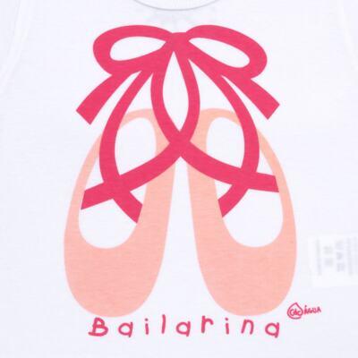 Imagem 3 do produto Conjunto de Banho Ballet: Camiseta + Biquíni + Tiara - Cara de Criança - KIT1-1268: BB1268 BIQUINI + CCAB1268 CAMISETA BAILARINA-G