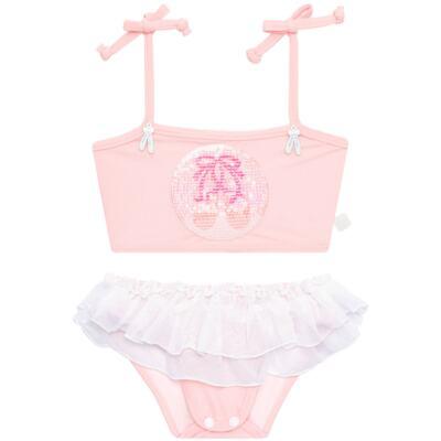 Imagem 4 do produto Conjunto de Banho Ballet: Camiseta + Biquíni + Tiara - Cara de Criança - KIT1-1268: BB1268 BIQUINI + CCAB1268 CAMISETA BAILARINA-G
