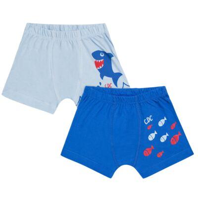 Imagem 1 do produto Kit com 2 Cuecas Boxer em malha Shark - Cara de Criança - KK2476 Kit Tubarao KK2 Kit Cueca 2 pçs M/Malha -P