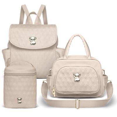 Imagem 1 do produto Mochila + Bolsa térmica Milão + Bolsa térmica Firenze Golden Koala Caqui - Classic for Baby Bags