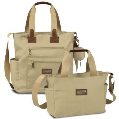 Imagem 1 do produto Bolsa para bebe Theo + Frasqueira Alice Urban Caqui - Masterbag