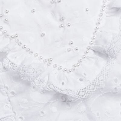 Imagem 2 do produto Jardineira para bebe em laise Pérolas Deluxe - Roana - JL000927001 Jardineira Luxo Branco-P