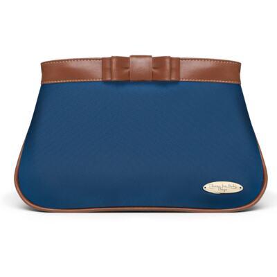 Imagem 4 do produto Bolsa maternidade para bebe Oxford + Frasqueira Térmica Kent + Necessaire Laço Caramel Marinho - Classic for Baby Bags