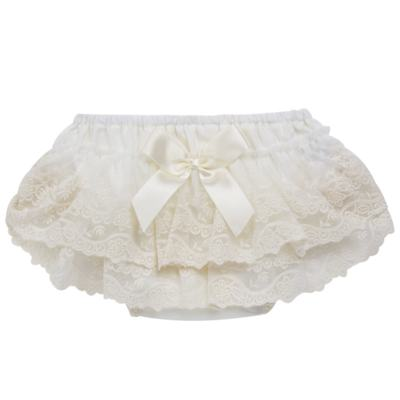Imagem 1 do produto Calcinha para bebê em tricoline Renda & Laço Marfim - Roana - CLES0032031 Calcinha Especial Marfim-P