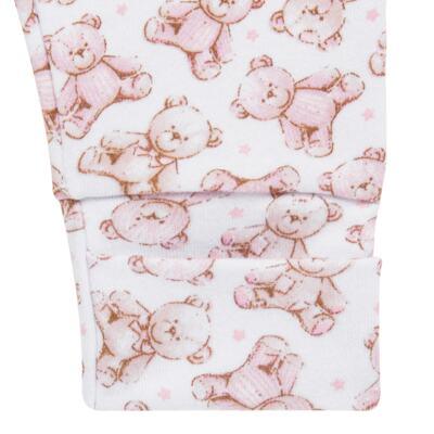 Imagem 3 do produto Pack 2 mijões com pé reversível para bebe em algodão egípcio c/ jato de cerâmica Princess Bear - Mini & Classic - 1025655 PACK 2 MIJOES SUEDINE URSA -RN