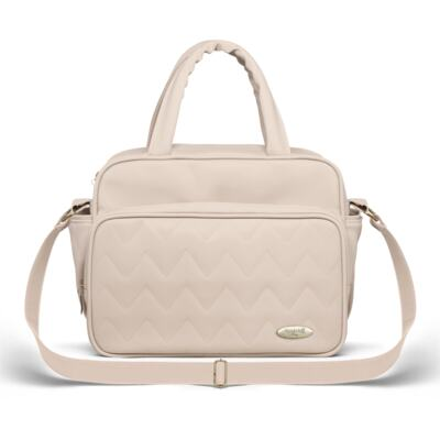 Imagem 4 do produto Mala Maternidade para bebe + Bolsa Turin + Frasqueira Térmica Trento Chevron Ágata - Classic for Baby Bags